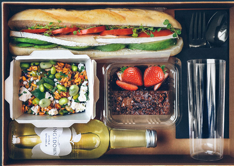 Boxed meal by the Little Picnic Company