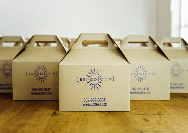 Benedicts Catering boxed lunch design