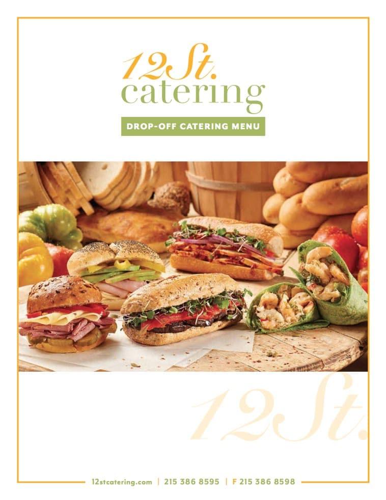12th Street Catering menu cover design