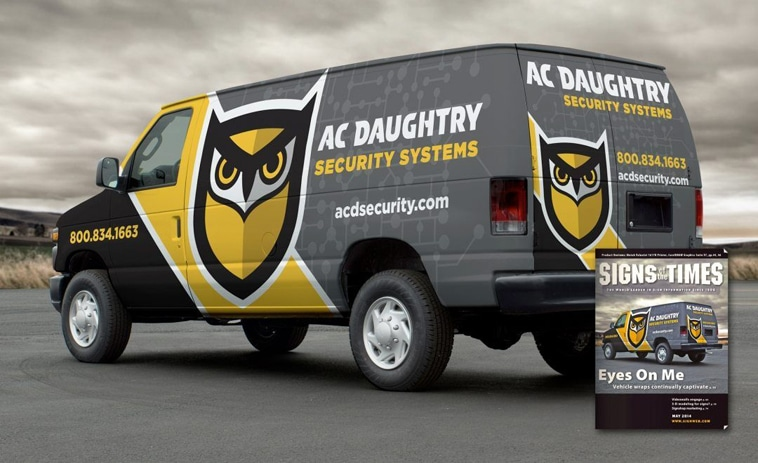 AC Daughtry Secruity Systems Van Wrap
