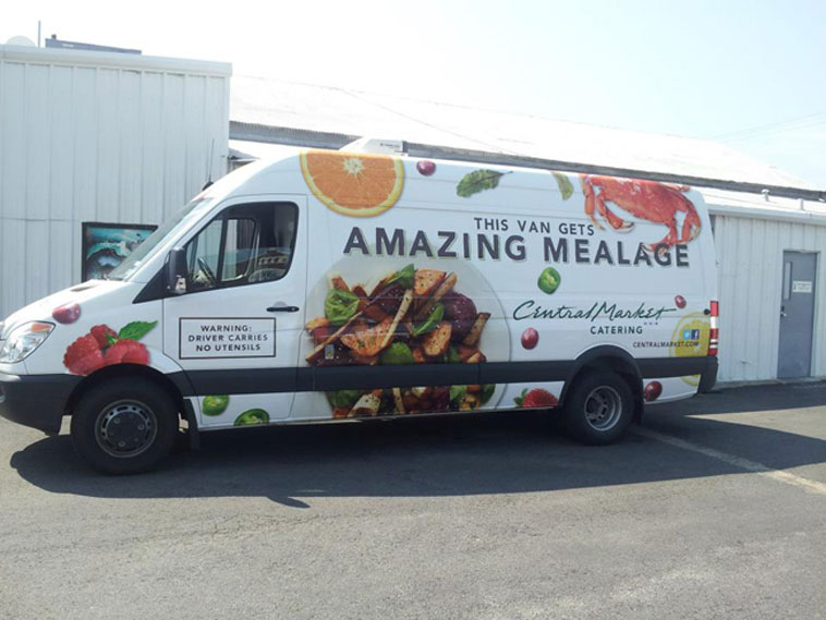 Central Market Catering Van Wrap