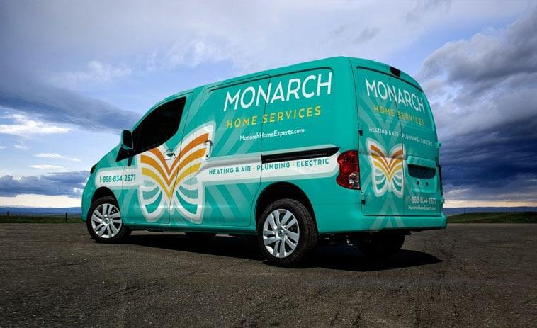 Monarch Home Services Van Wrap