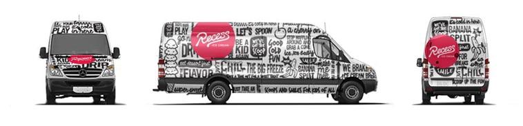 Recess Ice Cream Van Wrap