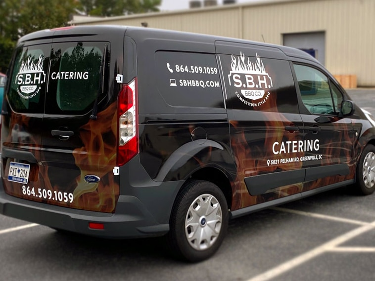S.B.H BBQ Co Truck Wrap
