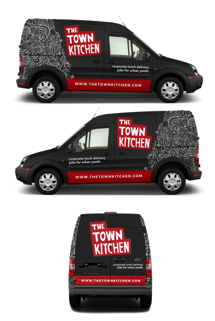 The Town Kitchen Truck Wrap