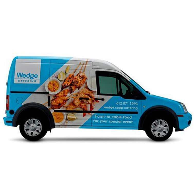 Wedge Catering Truck Wrap