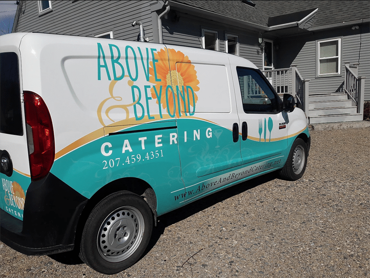 Above and Beyond Catering Truck Wrap