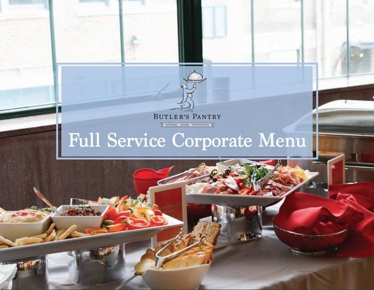 Butler's Pantry corporate catering menu design