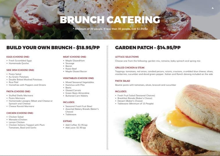 Cooked Goose Catering menu design