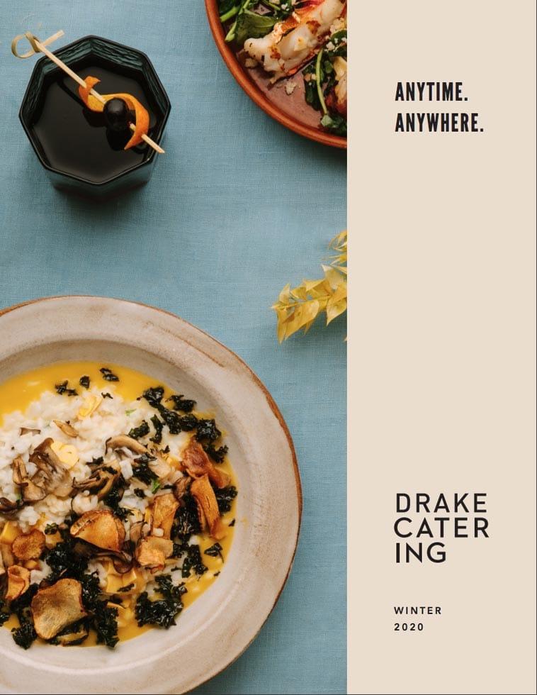 Drake Catering Menu Design