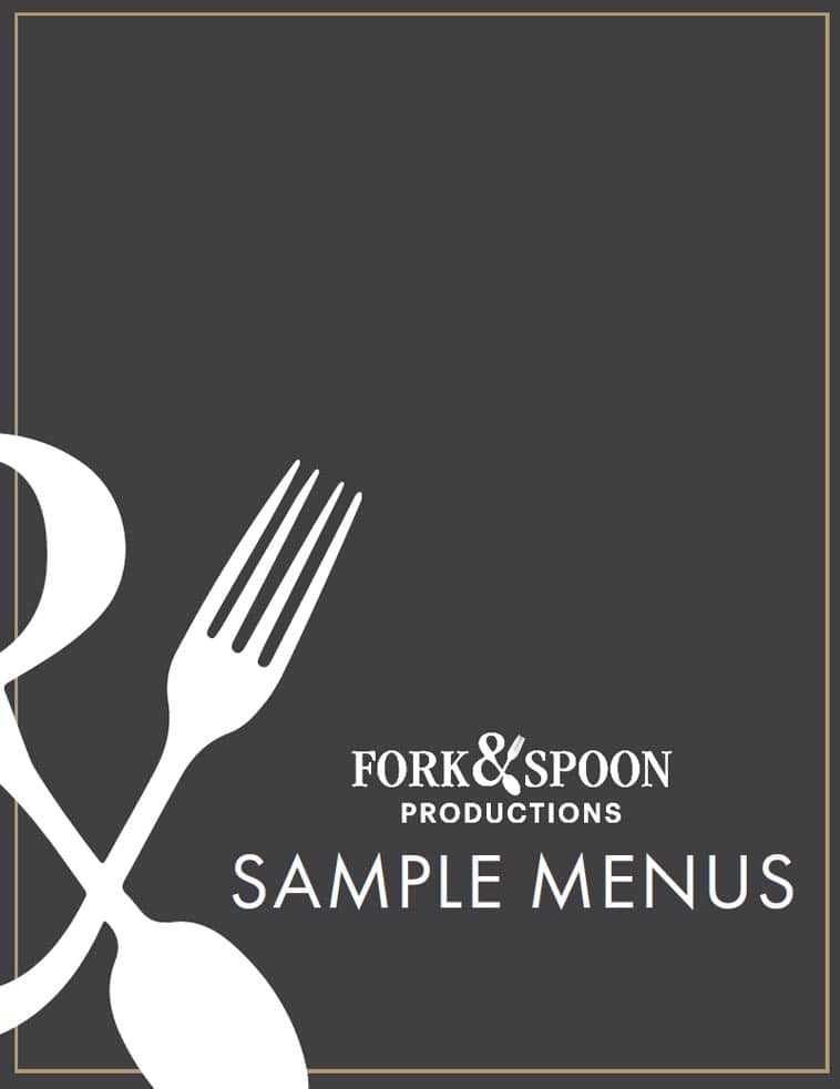 Fork & Spoon Productions Menu cover design