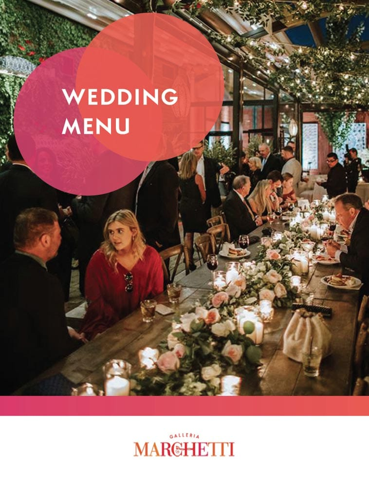 Galleria Marchetti wedding catering menu design
