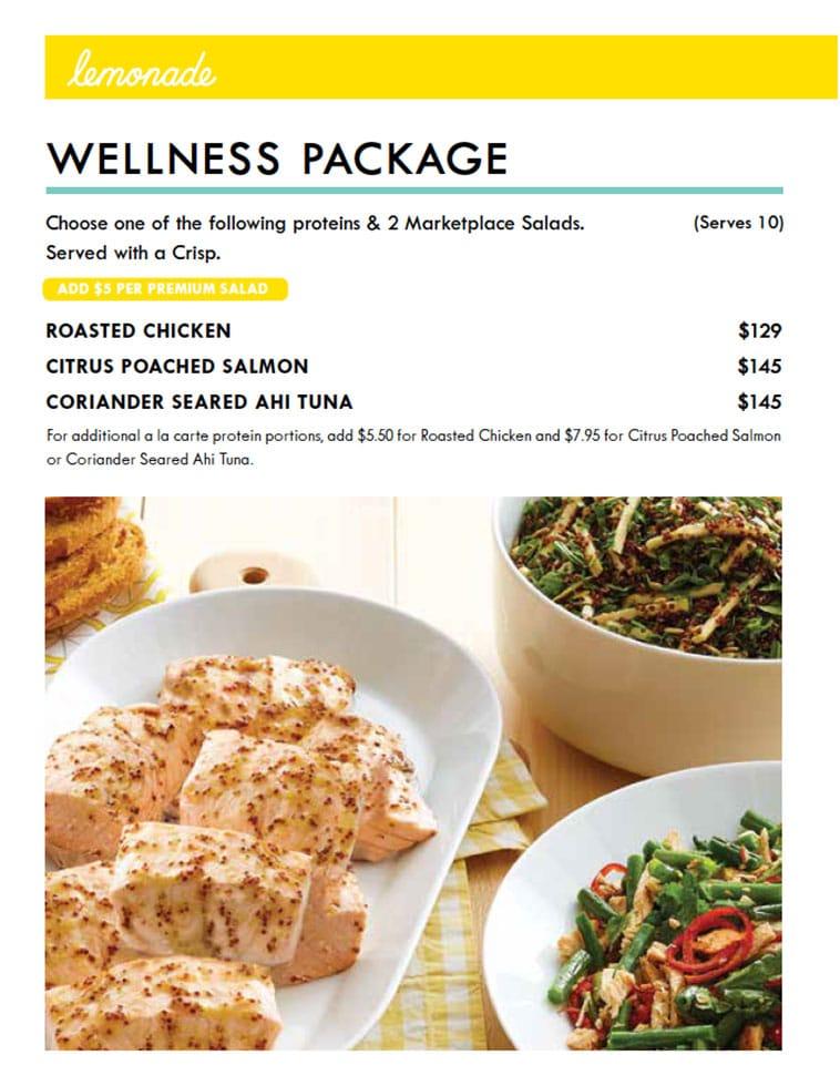 Lemonade minimal catering menu design page three