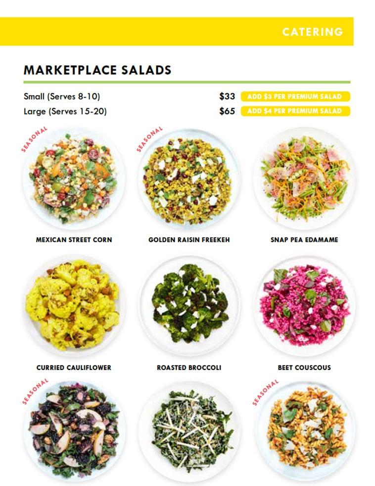 Lemonade minimal catering menu design page two