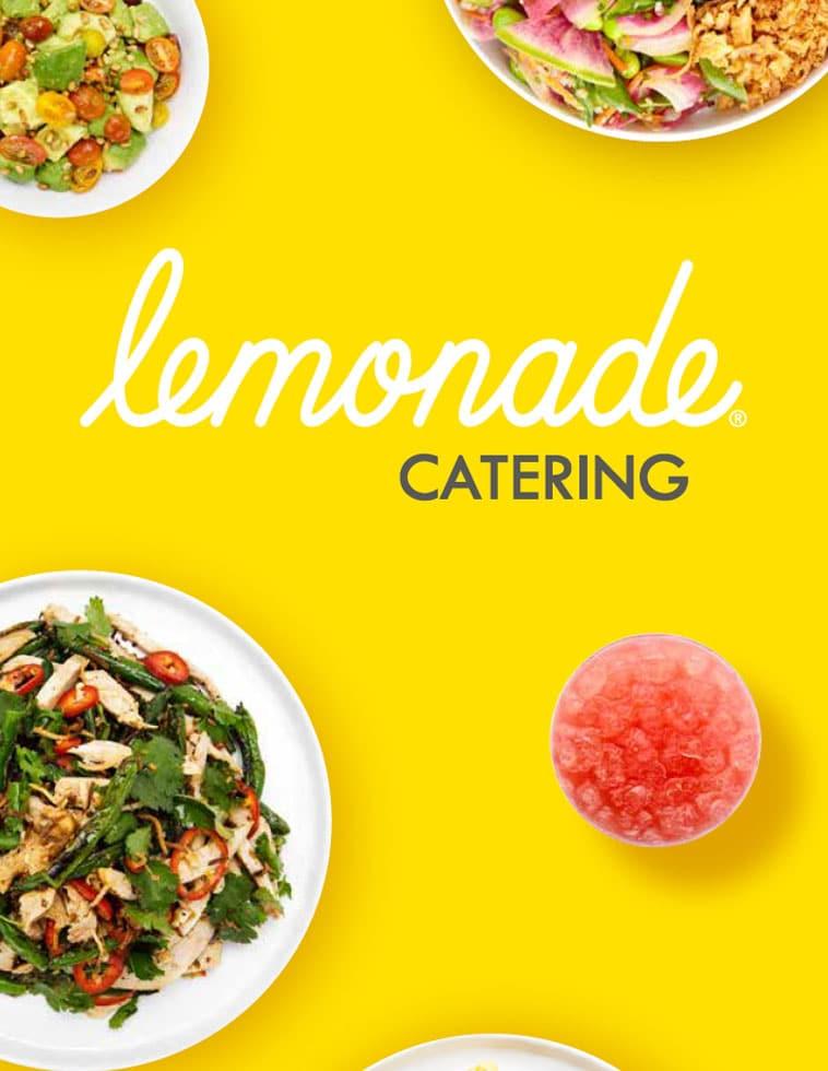 Lemonade minimal catering menu design