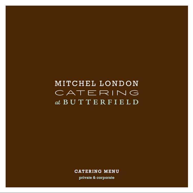 Mitchel London catering menu design