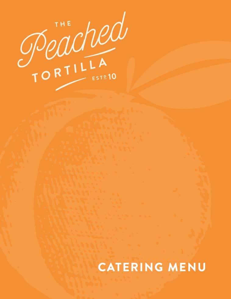 Peached tortilla simple catering menu design