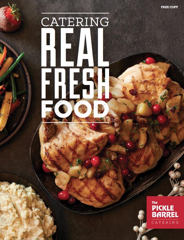Pickle Barrel Catering menu design