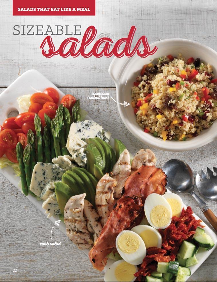 Pickle Barrel salad Catering menu design