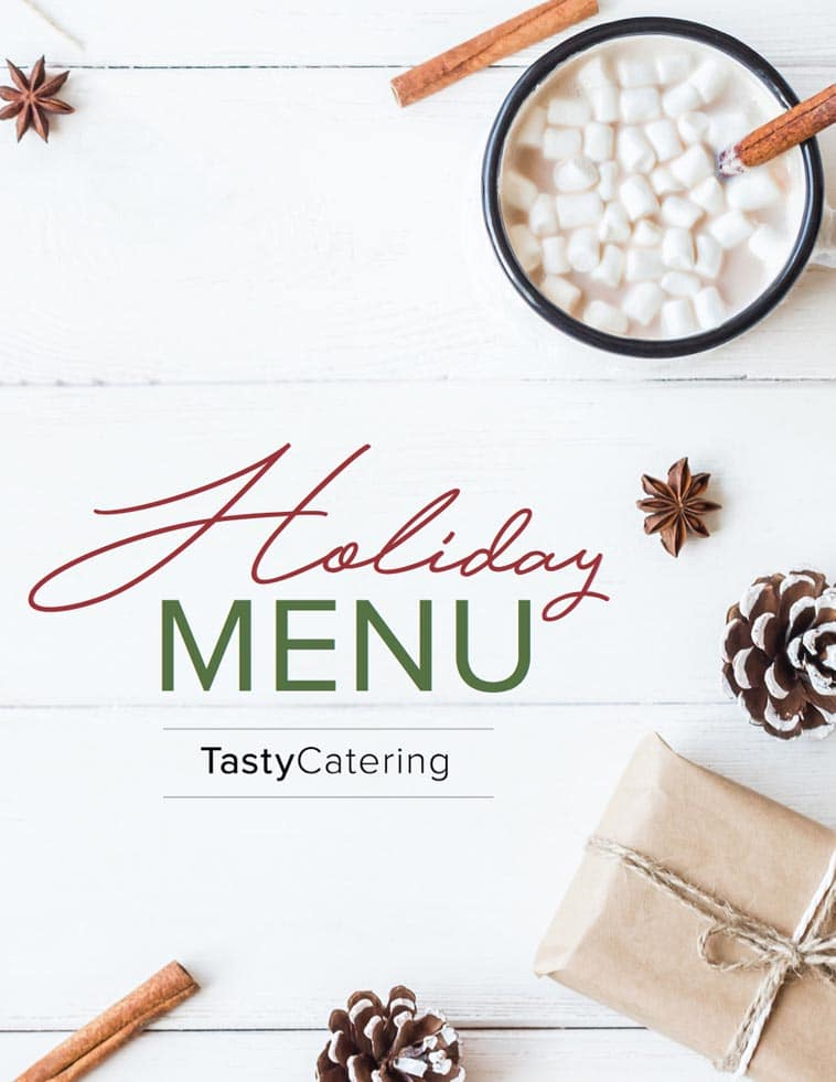 Tasty Catering holiday catering menu design