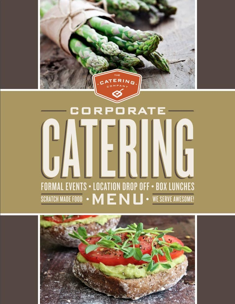 The Catering Company Menu Design Idea