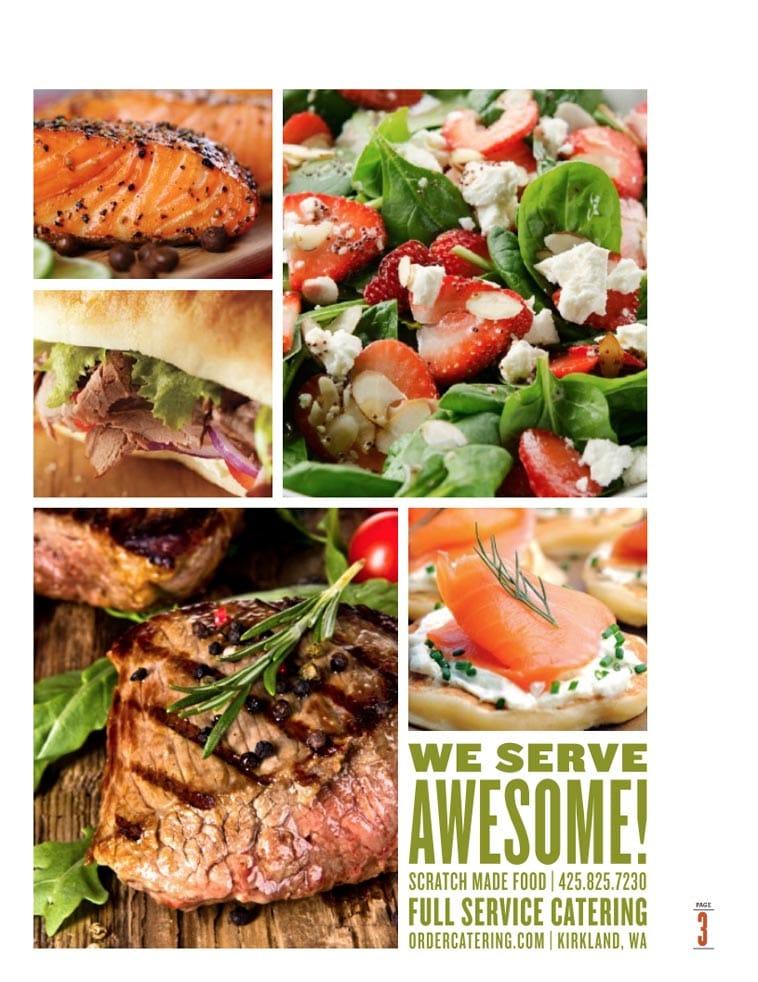 The Catering Company Menu Design Idea Two