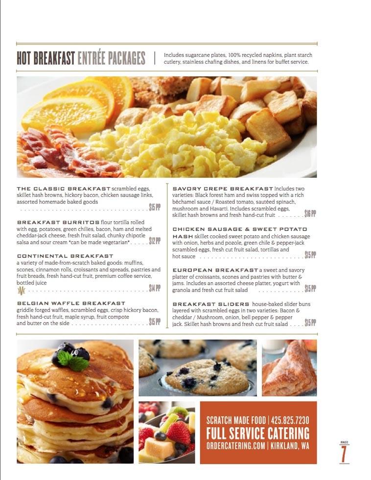 The Catering Company Menu Design Idea Three
