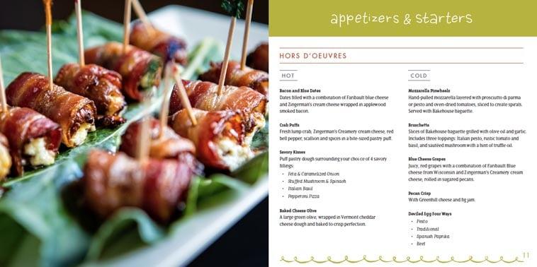 Zingerman's creative catering menu design